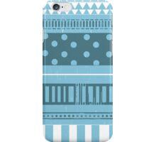 Cute Blue Patterned Case iPhone Case/Skin