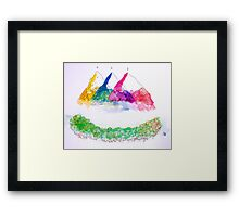 Only ONE mountain Framed Print