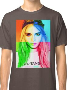Cara Delevingne pencil portrait 3 Classic T-Shirt
