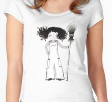 Witchy Overalls Women's Fitted Scoop T-Shirt