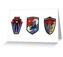 Pacific Defense Core badges Greeting Card