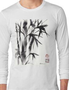 Compassion - Original Zen Spiritual Bamboo painting dedicated to the Dali Lama Long Sleeve T-Shirt