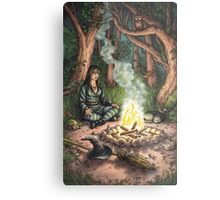 Everyday Witch Tarot - The Hermit Metal Print