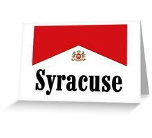 Syracuse cigs Greeting Card