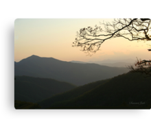 Smoky Mountain Misty Sundown Canvas Print
