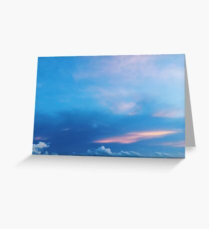 Pink Streaks Greeting Card