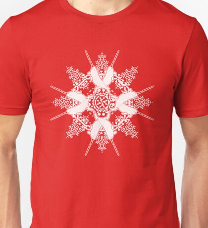 Peppermint Narwhal ZOOFLAKE Unisex T-Shirt