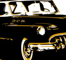 Black and Gold Car Sticker