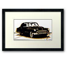 Black and Gold Car Framed Print