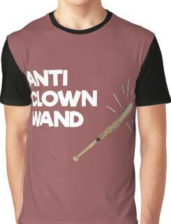 Funny Anti Clown Wand Graphic T-Shirt