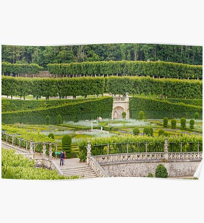 Gardens at the Chateau de Villandry, Loire Valley, France #2 Poster