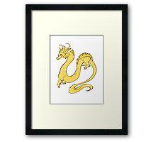 Albino Python Dragon Framed Print