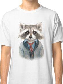 Raccoon in Sweater Classic T-Shirt