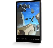 Escape from the City at the Edge of Tomorrow Greeting Card