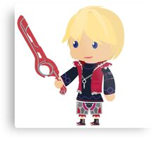 Chibi Shulk Vector Metal Print