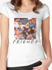 Friends-90210 Women's Fitted Scoop T-Shirt