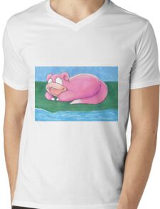 Slowpoke Mens V-Neck T-Shirt
