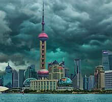 ☝ ☞Oriental Pearl Tower &BUILDINGS-PICTURE-PILLOW-TOTE BAG 东方明珠广播电视塔) IS A TV TOWER IN SANGHAI CHINA☝ ☞ by ╰⊰✿ℒᵒᶹᵉ Bonita✿⊱╮ Lalonde✿⊱╮