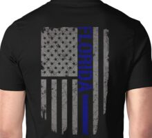 Florida Thin Blue Line American Flag T-shirt Unisex T-Shirt