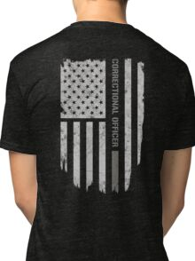 Thin Silver Line Correctional Officer T-Shirt Tri-blend T-Shirt