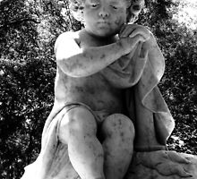 Sad Child Black and White by Nathan Little
