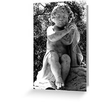 Sad Child Black and White Greeting Card