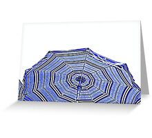 beach umbrella on sea Greeting Card