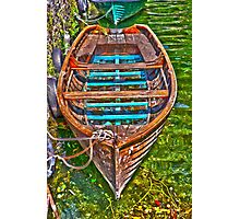 boat on lake Photographic Print
