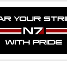 Wear Your Stripes With Pride Sticker