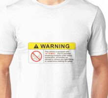 VTEC Warning Sticker, T-shirt, Phone Case Unisex T-Shirt