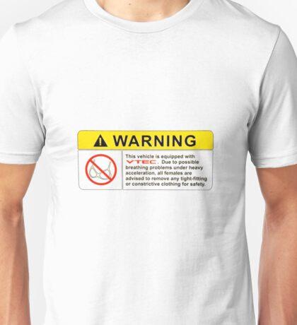 VTEC Warning Sticker, T-shirt, Phone Case Unisex T-Shirt