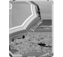 deck chairs on the beach iPad Case/Skin