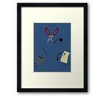 The Showdown: Rock vs Paper vs Scissors Framed Print
