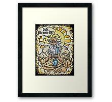 God with bong image Framed Print