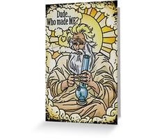 God with bong image Greeting Card