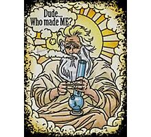 God with bong image Photographic Print