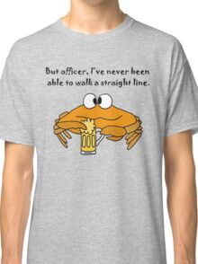Funny Funky Crab Drinking Beer Cartoon Classic T-Shirt