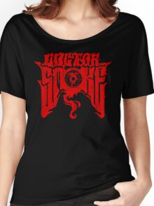 Distressed Logo (Red) Women's Relaxed Fit T-Shirt