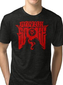 Distressed Logo (Red) Tri-blend T-Shirt