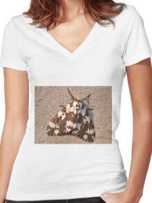 Tussock Moth Women's Fitted V-Neck T-Shirt