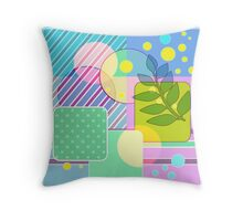 colorful pattern for textiles.  Throw Pillow