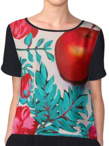 Rosy Apple Chiffon Top