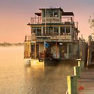 Captain Proud and Golden Sunrise, Murray Bridge by Mark Richards