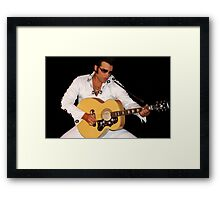 ♪ ♫ ♩ ELVIS IMPERSONATOR ♪ ♫ ♩ Framed Print