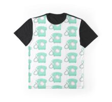 Mint Green Rotary Phone Graphic T-Shirt