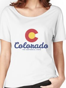 Colorado Badge Vintage Women's Relaxed Fit T-Shirt