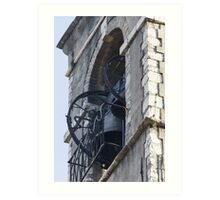 old steeple of the church Art Print