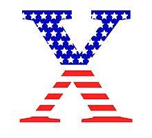 Chi Symbol American Flag Design Photographic Print
