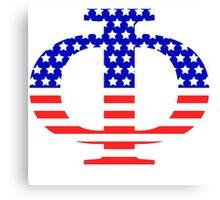 Phi Symbol American Flag Design Canvas Print