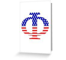 Phi Symbol American Flag Design Greeting Card